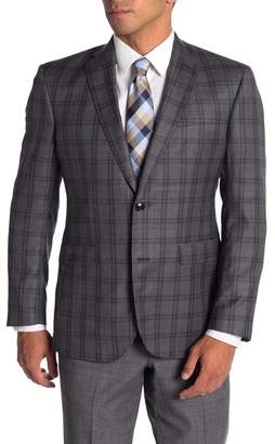 Ted Baker Jarrow Grey Check Two Button Notch Lapel Wool Slim Fit Suit Separates Sport Jacket