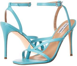 Steve Madden Amada Heeled Sandal (Teal Leather) Women's Shoes