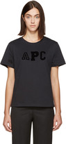 A.P.C. Navy Collegien Logo T-Shirt