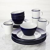 Crate & Barrel Maison Cobalt Blue 16-Piece Dinnerware Set