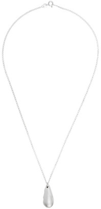 Dear Letterman Silver Damaat Pendant Necklace