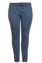 Quiz Curve Blue Stretch High Waist Jeans