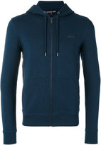Michael Kors logo plaque zip hoodie - men - Cotton/Spandex/Elastane - L