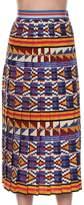 Stella Jean Pleated Skirt In Kente Multi