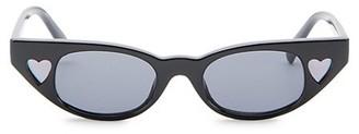 Le Specs Luxe Le Specs x Adam Selman The Heartbreaker 56MM Cat Eye Sunglasses