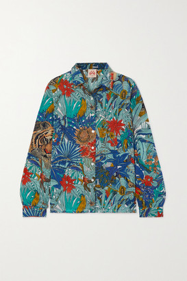 Le Sirenuse Positano Penny Printed Cotton Shirt - Blue