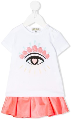 Kenzo Eye embroidered dress