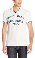 U.S. Polo Assn. Men's Slim-Fit Flocked Logo Pique Polo Shirt