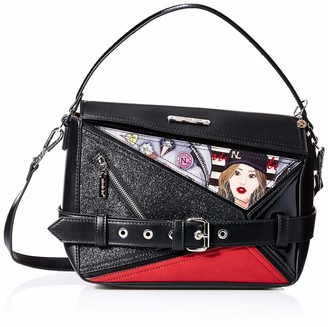 Nicole Lee Women's Printed Glossy Buckle Messenger Crossbody Bag One Size
