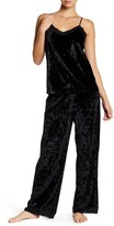 Shimera V-Neck Tank Top Velvet Pants Pajama Set