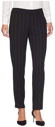 Liverpool Kelsey Trousers in Wide Stripe Ponte Knit (Black/White Wide Stripe) Women's Casual Pants