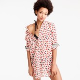 J.Crew Beach shirt in berry print