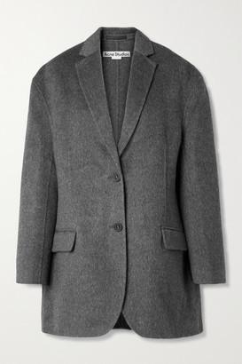 Acne Studios Oversized Melange Brushed Wool And Alpaca-blend Blazer - Anthracite