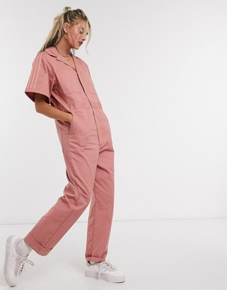 adidas New Neutrals logo boilersuit in pink