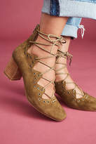 Anthropologie Silent D Cassimo Lace-Up Heels