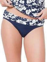 Anne Cole Floral and Solid Swim Bottom