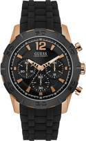 GUESS Black and Rose Gold-Tone Racing Watch