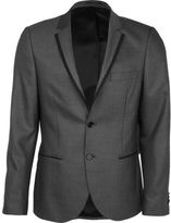 River Island Grey Contrast Skinny Suit Jacket
