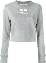 Courreges logo print sweatshirt - women - Cotton - 2