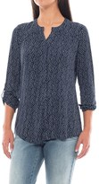 Max Jeans Hidden-Button Knit Blouse - Roll-Up 3/4 Sleeve (For Women)