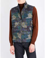 Etro Camouflage Quilted Shell Gilet
