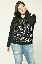 Forever 21 FOREVER 21+ Plus Size Sorry Graphic Sweater