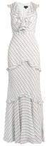 Saloni Rita ruffle-trimmed sleeveless dress