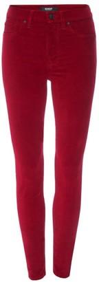 Hudson Barbara High-Rise Super Skinny Velvet Ankle Jeans