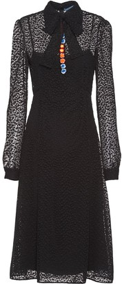 Prada Guipure floral lace dress