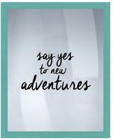 "PTM Images Say Yes Framed Silkscreen Wall Art - 16.75"" x 20.75"""