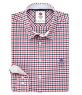 Thomas Pink Cabe Check Slim Fit Button Cuff Shirt