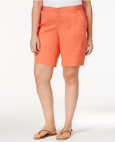 Lee Platinum Plus Size Relaxed Fit Delaney Bermuda Utility Shorts