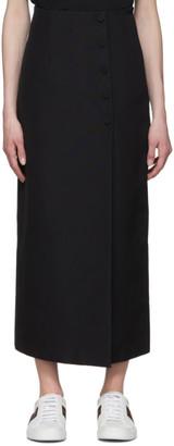 Gucci Black Faille Slit Skirt