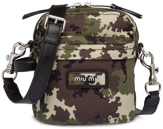 Miu Miu camouflage bandoleer bag