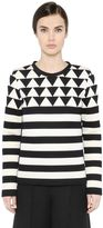 Valentino Patchwork Techno Jersey Sweatshirt