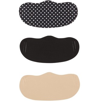 Mandmdirect.Com Womens Three Pack Face Masks Spot Print/Nude/Black