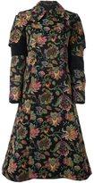 Comme des Garcons woven floral coat - women - Cotton/Polyester/Cupro/Rayon - S