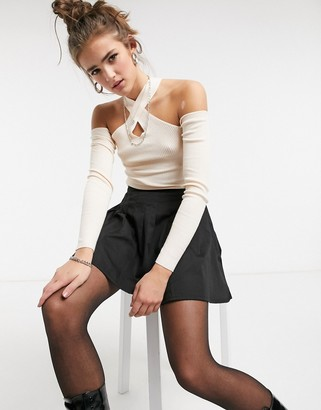 Threadbare ema cutout ribbed jumper