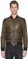 DSQUARED2 Nappa Leather Bomber Jacket