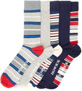 Howick 5 Pack Multi Stripe Socks