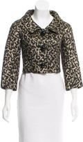 Michael Kors Cropped Leopard Print Jacket
