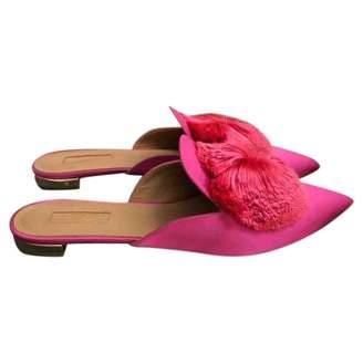 Aquazzura Powder Puff Pink Cloth Sandals
