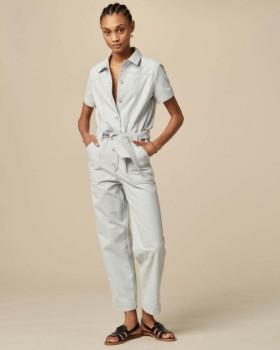 Sessun Desert Cloud Worker Style Twill Jumpsuit - Rosewater   38