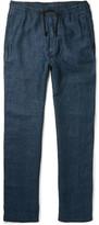 Eidos - Herringbone Linen Drawstring Trousers