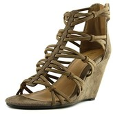 Mia Dylon Open Toe Synthetic Wedge Sandal.