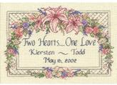 """Dimensions One Love Wedding Record Mini Counted Cross Stitch Kit - 7"""" x 5"""""""