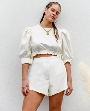Danielle Bernstein High-Cut Solid Shorts, Created for Macy's