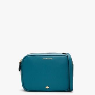 Lulu Guinness Lip Pin Cole Emerald Leather Cross-Body Bag