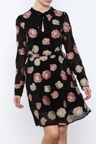 Nicole Miller Black Flowered Dress