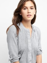 Gap Stripe pintuck popover shirt